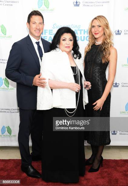 Evan Rubin Debbie Cohen and Ofira Sandberg attend the Lung Transplant Project Gala with special guest Patti LaBelle at Guastavino's on October 2 2017...