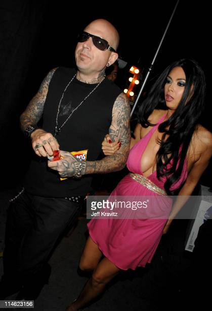 Evan Seinfeld and Tera Patrick during First Annual Spike TV's Guys Choice Backstage and Audience at Radford Studios in Los Angeles California United...