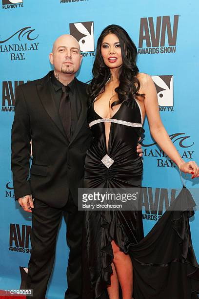 Evan Seinfeld Tera Patrick during 2007 AVN Awards Show Red Carpet at Mandalay Bay in Las Vegas Nevada United States