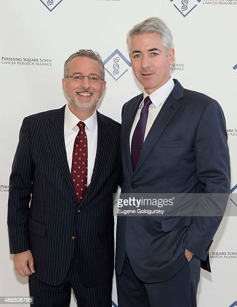 Evan Sohn and William Ackman attend the Announcement Of The 2014 Pershing Square Sohn Prize Winners At The Sohn Investment Conferenceat Avery Fisher...