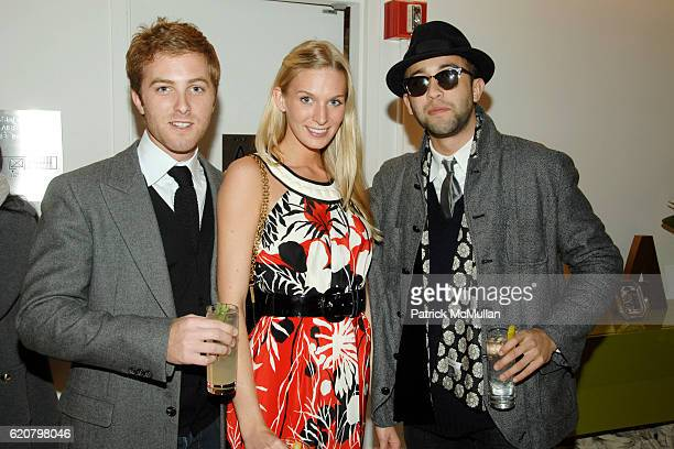 Evan Speiser Caroline Owens and Alexander DexterJones attend ANNABELLE DEXTERJONES and ALEXANDRA RICHARDS Host TIMO Wallets and LIZZIE FORTUNATO...