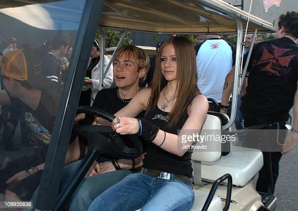 Evan Taubenfeld and Avril Lavigne during MTV Icon Metallica Arrivals at Universal Studios Stage 12 in Universal City CA United States