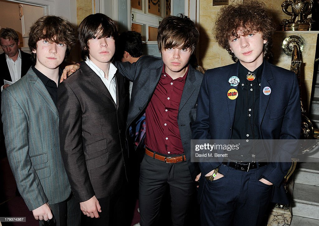 Evan Walsh, Josh McClorey, Ross Farrelly and Pete O'Hanlon of The Strypes attends as Sir Elton John is awarded the first annual 'BRITS Icon' award at the London Palladium on September 2, 2013 in London, England.