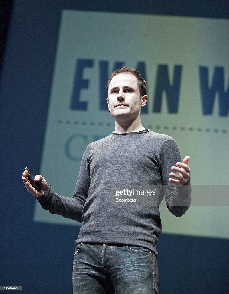Evan Williams, chief executive officer and co-founder of Twitter Inc., speaks during Twitter's Chirp conference at the Palace of Fine Arts in San Francisco, California, U.S., on Wednesday, April 14, 2010. Twitter Inc., the social-networking service whose users post about 50 million short messages a day, will start running advertising to generate sales from marketers eager to reach its audience. Photographer:Chip Chipman/Bloomberg via Getty Images