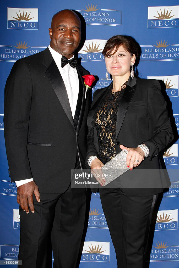 Evander Holyfield and Maria Bartiromo attend the 2014 Ellis Island Medals Of Honor at Ellis Island on May 10, 2014 in New York City.