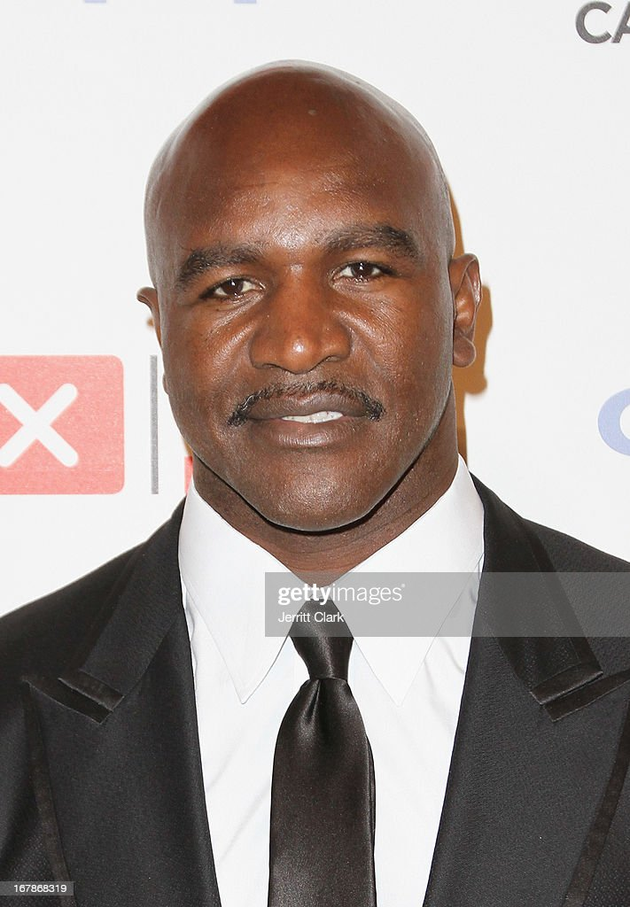 Evander Holyfield attends the 2013 Delete Blood Cancer Gala at Cipriani Wall Street on May 1, 2013 in New York City.