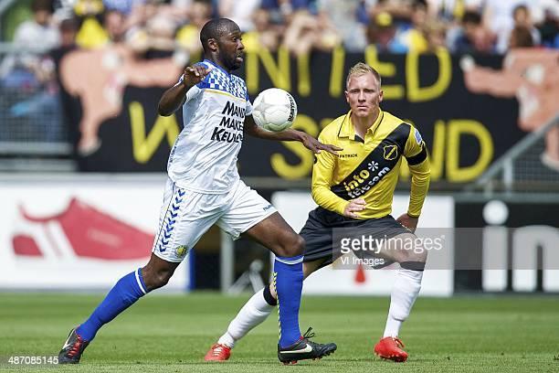 Evander Sno of RKC Waalwijk Henrico Drost of NAC Breda during the Dutch Eredivisie match between NAC Breda and RKC Waalwijk at Rat Verlegh stadium on...