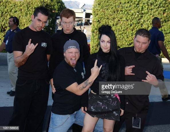 Evanescence during 2003 Teen Choice Awards Arrivals at Universal Amphitheatre in Universal City California United States