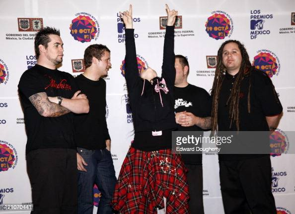 Evanescence during MTV Video Music Awards Latin America 2006 Press Room at Palacios de los Deportes in Mexico City Mexico