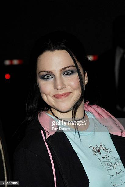 Evanescence member Amy Lee arrives at the Ed Sullivan Theater for a taping of the ''Late Show with David Letterman'' on December 14 2006 in New York...