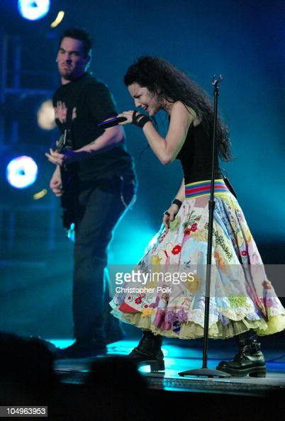 Evanescence performs 'Going Under' during 31st Annual American Music Awards Show at The Shrine Auditorium in Los Angeles California United States