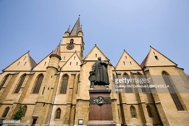 Evangelical church, Sibiu, Romania, Europe, low angle view