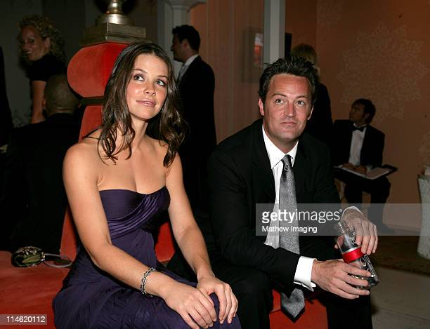 Evangeline Lilly and Matthew Perry during 58th Annual Primetime Emmy Awards Architectural Digest Green Room at The Shrine Auditorium in Los Angeles...