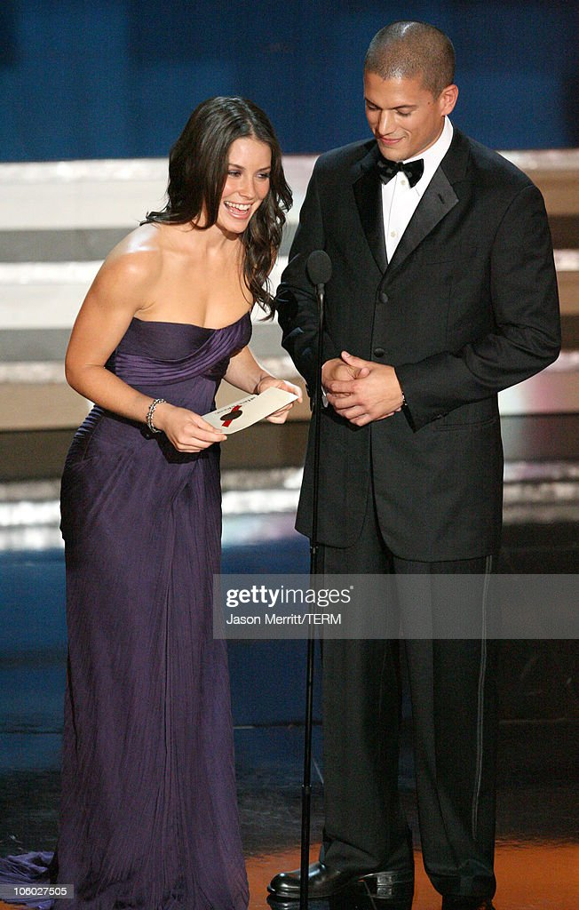 Evangeline Lilly and Wentworth Miller presenters for Guest Actor/Actress In A Drama Series