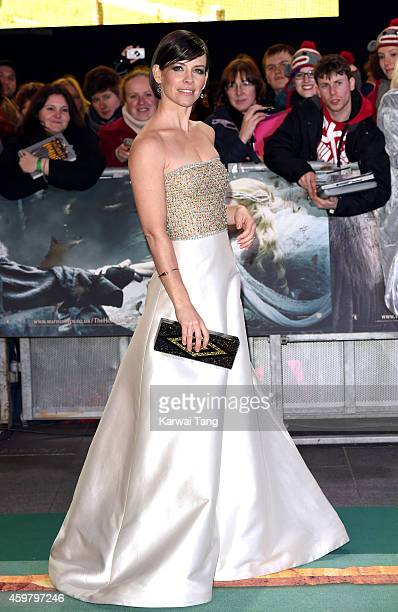 Evangeline Lilly attends the World Premiere of 'The Hobbit The Battle OF The Five Armies' at Odeon Leicester Square on December 1 2014 in London...