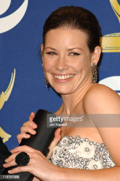 Evangeline Lilly during 57th Annual Primetime Emmy Awards Press Room at The Shrine in Los Angeles California United States