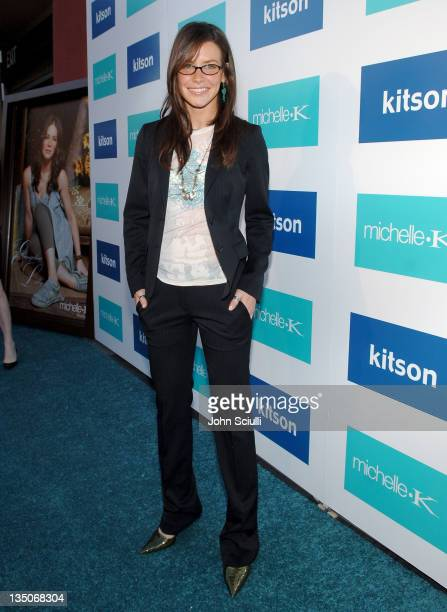 Evangeline Lilly during Evangeline Lilly as The New Face of Michelle K at Kitson in Los Angeles California United States