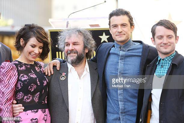 Evangeline Lilly Sir Peter Jackson Orlando Bloom and Elijah Wood attend the ceremony honoring Sir Peter Jackson with a Star on The Hollywood Walk of...