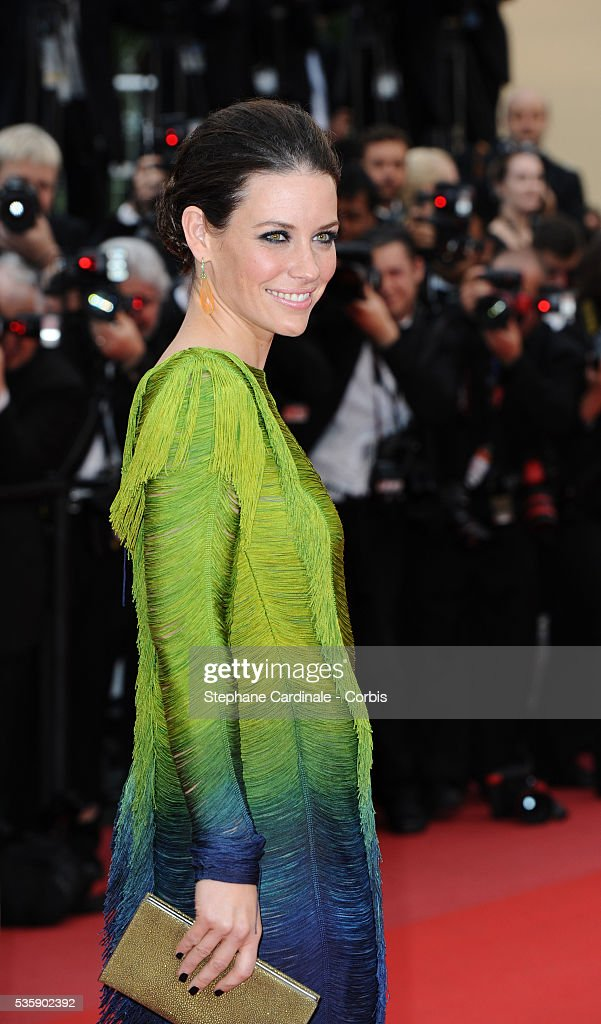 Evangeline Lily at the Premiere for 'You will meet a tall dark stranger' during the 63rd Cannes International Film Festival.