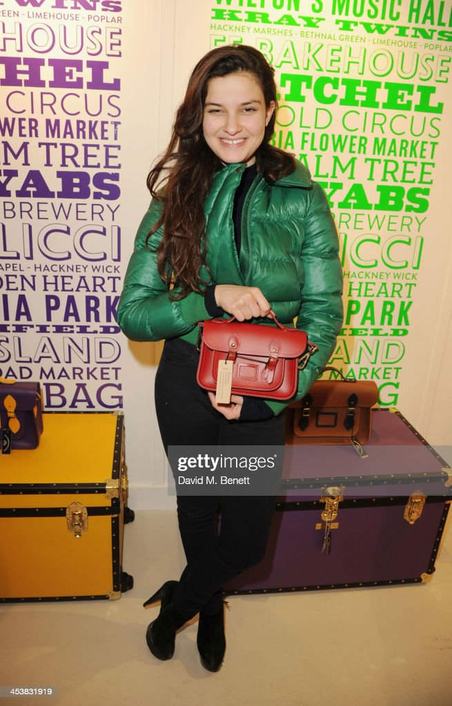 Evangeline Ling attends The Cambridge Satchel Company launch of their East London pop up store on December 5, 2013 in London, England.