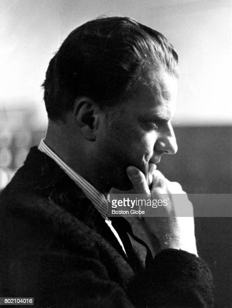 Evangelist Billy Graham is pictured during a visit to Boston on Feb 18 1964