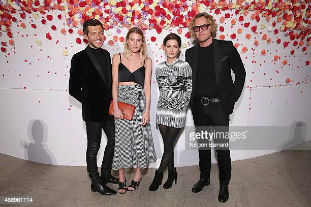 Evangelo Bousis Dree Hemingway Victoria Bousis and Peter Dundas attend the 2015 Guggenheim Young Collectors party supported by David Yurman at...