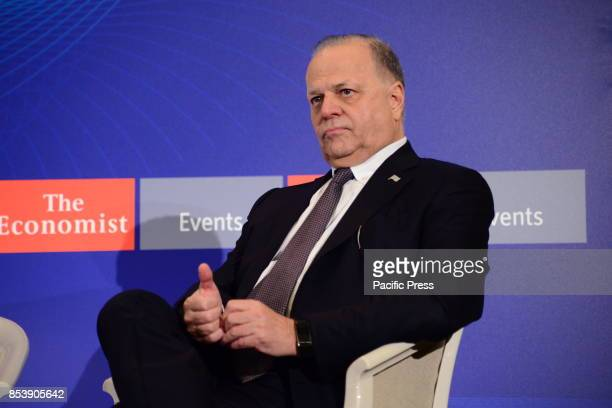 Evangelos Mytilineos Chairman and CEO MYTILINEOS during the discussion in the Economist