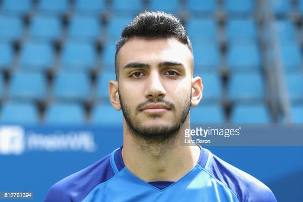 Evangelos Pavlidis of VfL Bochum poses during the team presentation at Vonovia Ruhrstadion on July 11 2017 in Bochum Germany