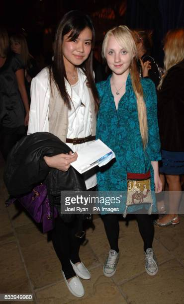 Evanna Lynch and Katie Leung at the Golden Compass World Premiere afterparty at the Tobacco Docks in London