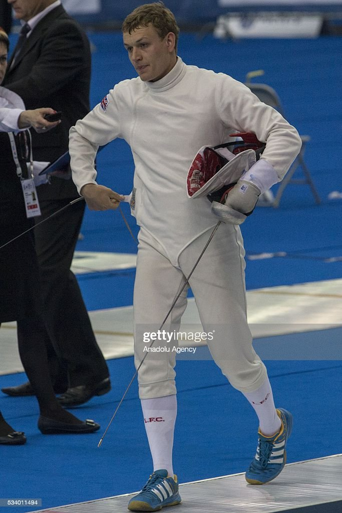 Evans Joseph (Germany) during the men's relay World Championship in modern pentathlon in Moscow in Olympic Sports Complex in Moscow, Russia, on May 24, 2016.