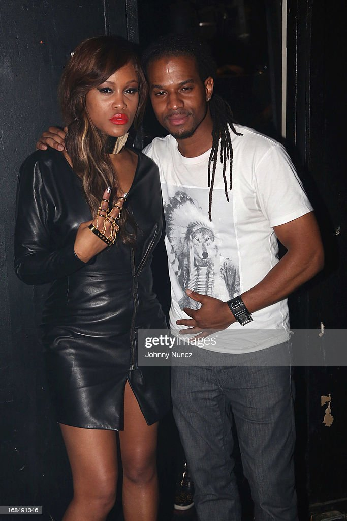 Eve and DJ Spynfo attend Girls Night Out Hosted by Eve at Webster Hall on May 9, 2013 in New York City.