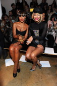 Eve and Keri Hilson attend The Blonds Fall 2011 fashion show during MercedesBenz Fashion Week at Milk Studios on February 16 2011 in New York City