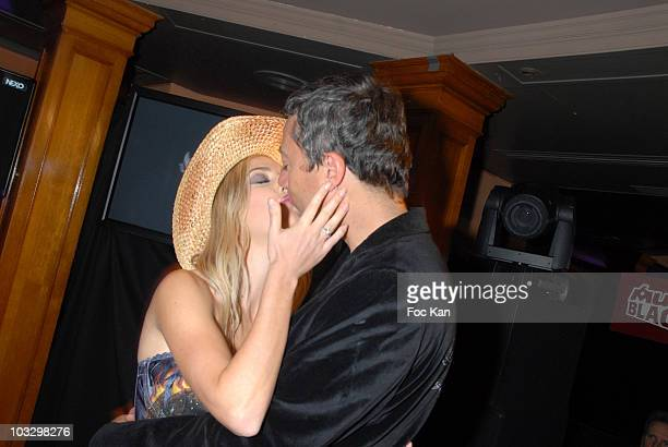 Eve Angeli and Michel Rostaing attend the M6 Music Party at the Ritz Club on December 10 2007 in Paris France