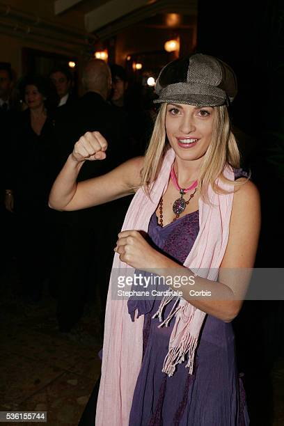 Eve Angeli attends the 2005 Gala du Ring organised by the First Round association at the Cirque d'Hiver Bouglione The proceeds of the gala boxing...