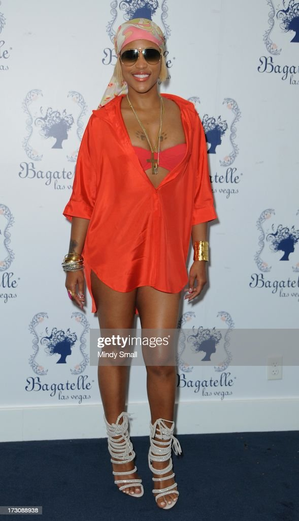 <a gi-track='captionPersonalityLinkClicked' href=/galleries/search?phrase=Eve+-+Singer&family=editorial&specificpeople=201785 ng-click='$event.stopPropagation()'>Eve</a> appears at Bagatelle Beach at the New Tropicana Las Vegas on July 6, 2013 in Las Vegas, Nevada.