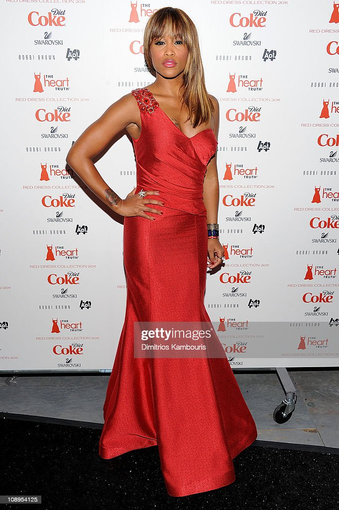 Eve attends the Heart Truth's Red Dress Collection 2011 during Mecerdes-Benz fashion week at The Theatre at Lincoln Center on February 9, 2011 in New York City.