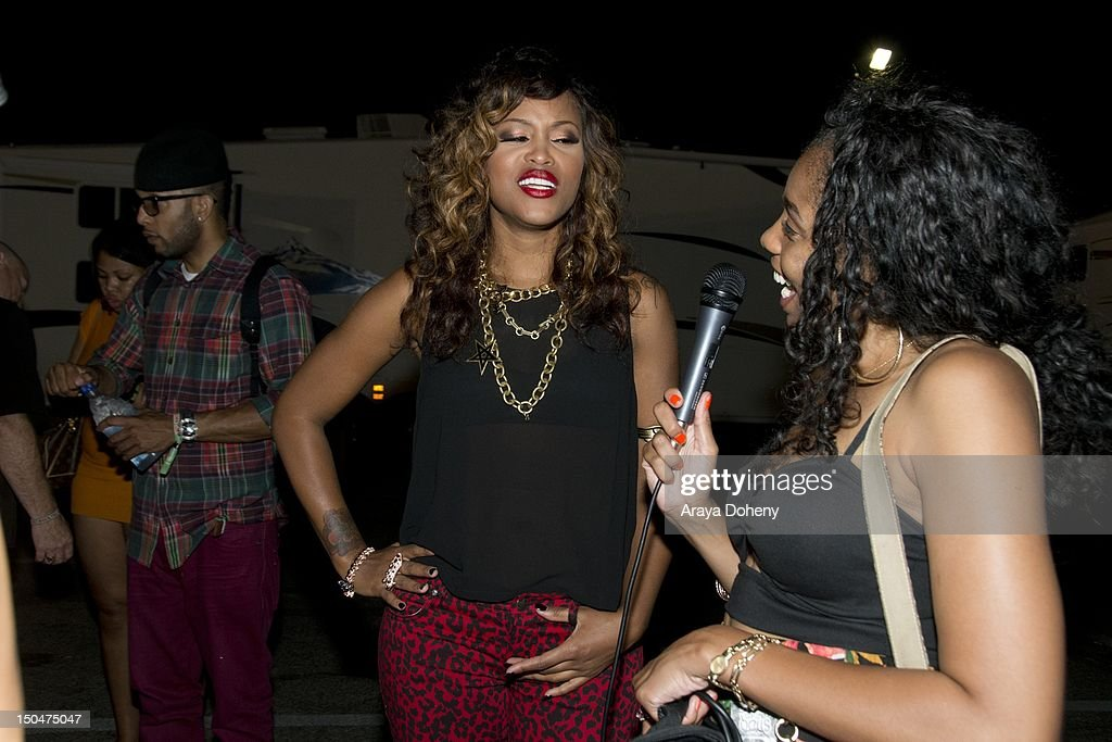 Eve backstage at Rock The Bells Music Festival at NOS Events Center on August 18, 2012 in San Bernardino, California.