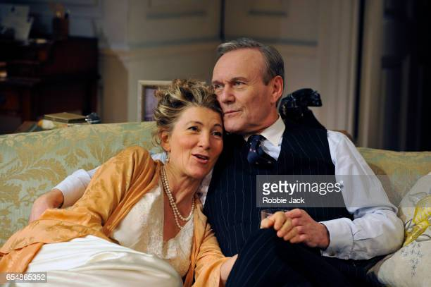 Eve Best as Olivia Brown and Anthony Head as Sir John Fletcher in Terence Rattigan's Love In Idleness directed by Trevor Nunn at Menier Chocolate...