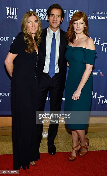 Eve Best Clive Owen and Kelly Reilly attend the The Roundabout Theatre Company's Broadway Opening Night Of Old Times CoSponsored By FIJI Water at...
