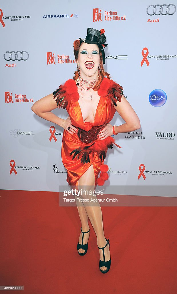 Eve Champagne attends the Artists Against Aids Gala 2013 (Kuenstler gegen Aids Gala 2013) at Stage Theater on November 25, 2013 in Berlin, Germany.