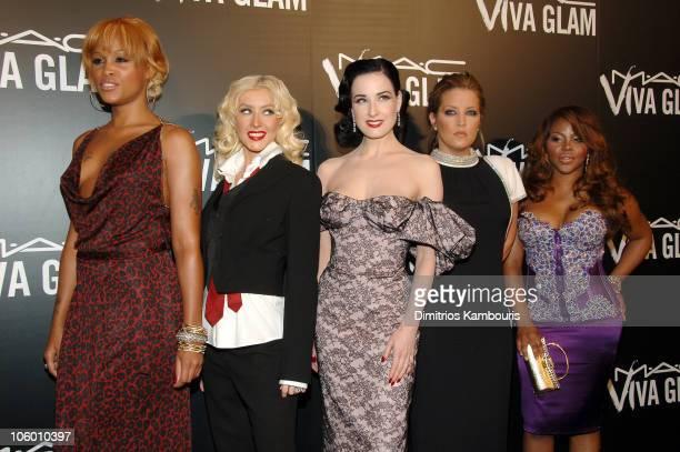 Eve Christina Aguilera Dita von Teese Lisa Marie Presley and Lil' Kim