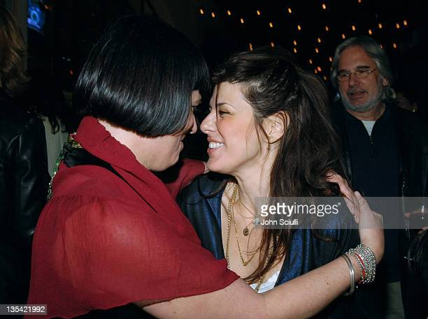 Eve Ensler and Marisa Tomei during Eve Ensler's 'The Good Body' Opening Night Benefit for VDay LA 2006 After Party at Napa Valley Grille in Los...
