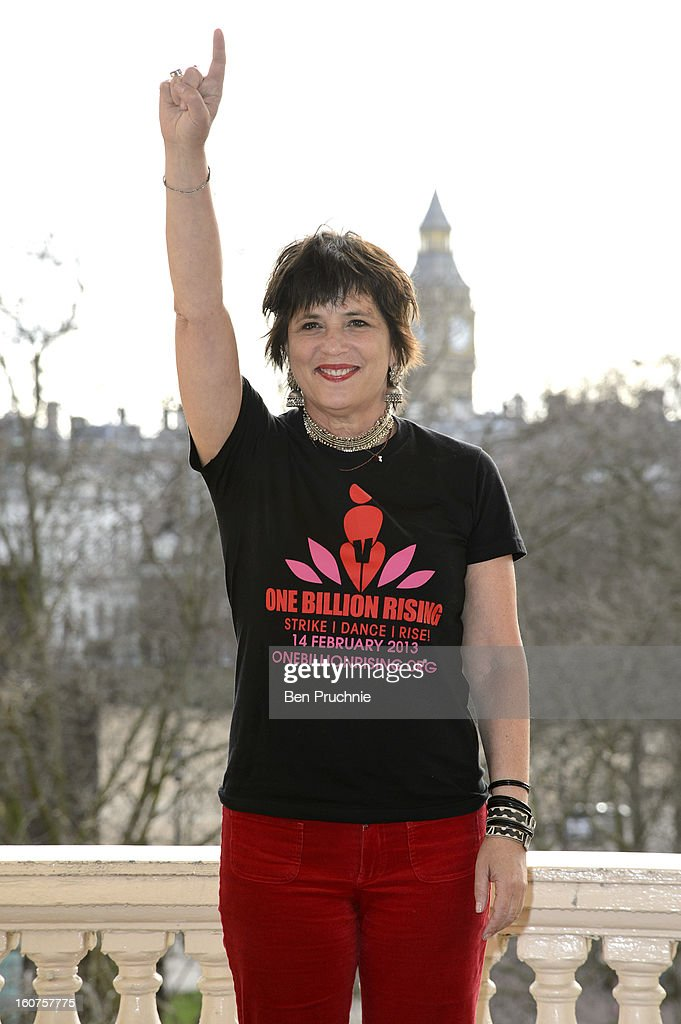 Eve Ensler attends a photocall to promote One Billion Rising, a global movement aiming to end violence towards women, at ICA on February 5, 2013 in London, England.