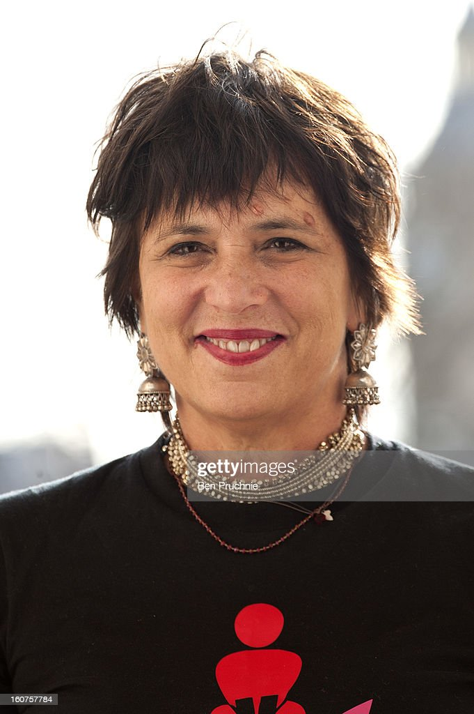Eve Ensler attends a photocall to promote One Billion Rising, a global movement aiming to end violence towards wome, at ICA on February 5, 2013 in London, England.