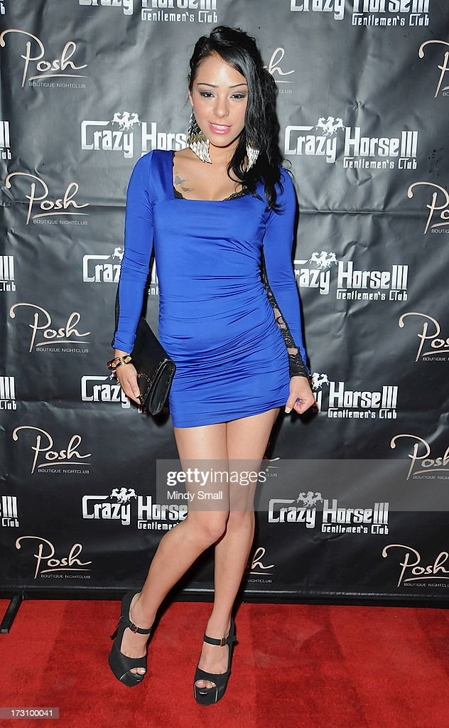 Eve Evans arrives at the Crazy Horse III Gentleman's Club on July 6, 2013 in Las Vegas, Nevada.