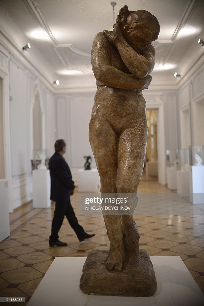 'Eve grand modeleversion sans rocher' a bronze sculpture by French sculptor Auguste Rodin is on display at Bulgaria's National Art gallery in Sofia...