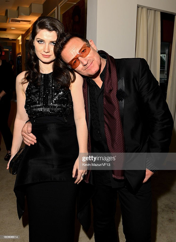 Eve Hewson and Bono attend the 2013 Vanity Fair Oscar Party hosted by Graydon Carter at Sunset Tower on February 24, 2013 in West Hollywood, California.
