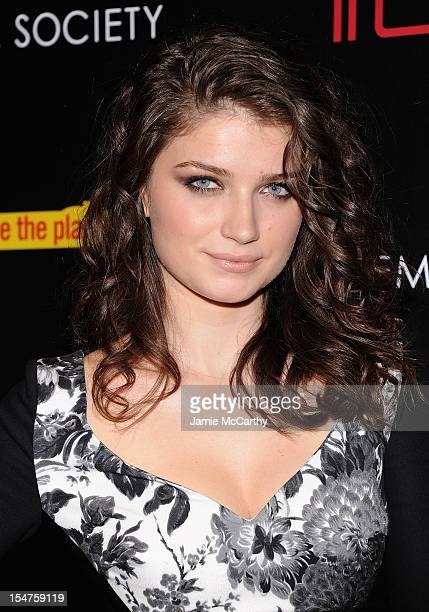 Eve Hewson attends the Weinstein Company Cinema Society Screening of 'This Must Be The Place' at the Tribeca Grand Hotel on October 25 2012 in New...