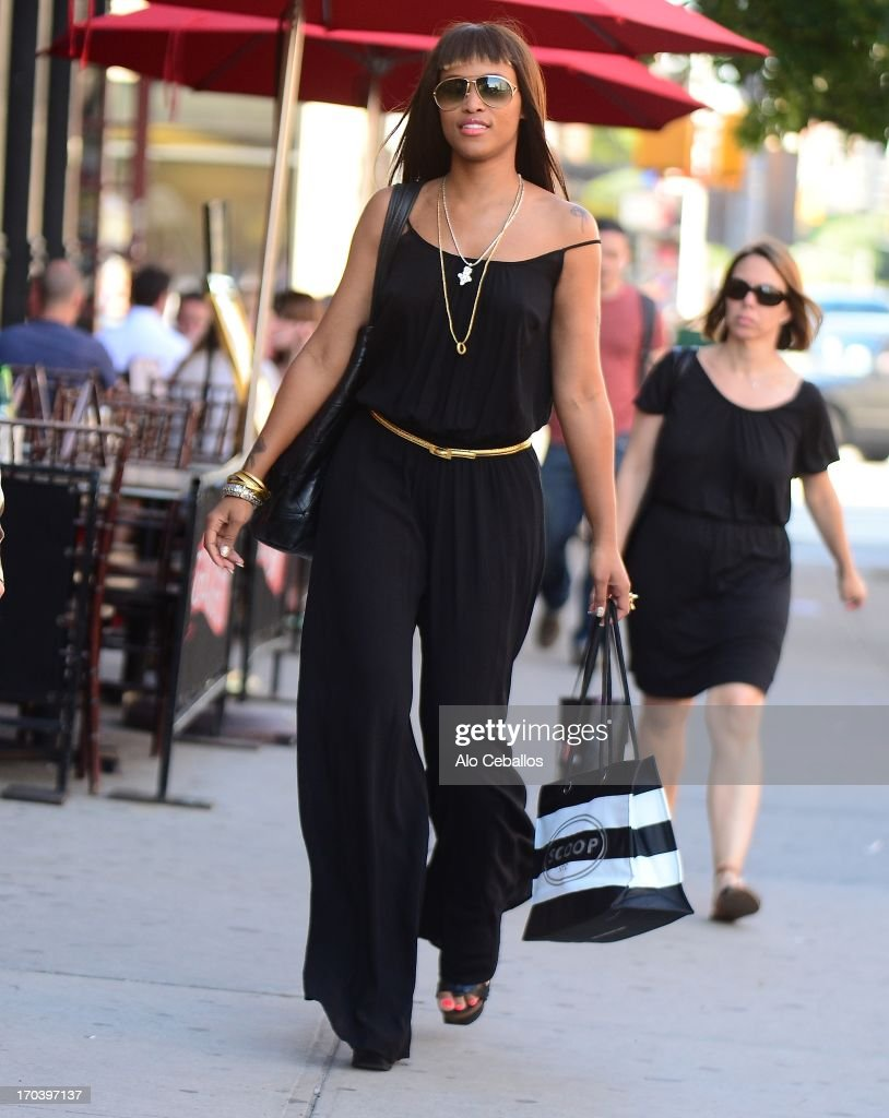 Eve is seen in Soho on June 12, 2013 in New York City.