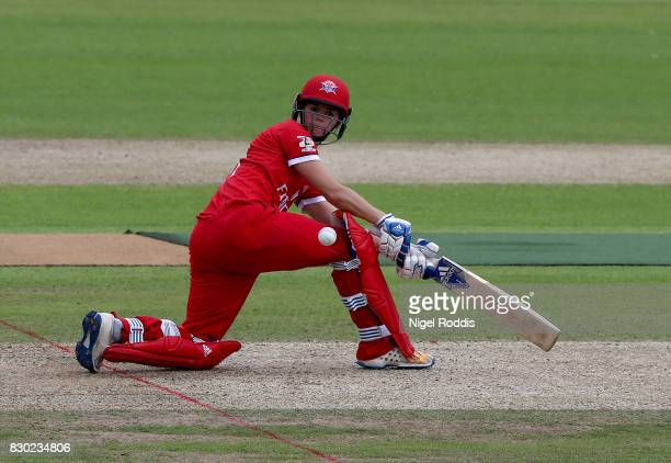 Eve Jones of Lancashire Thunder during the Kia Super League 2017 between Yorkshire Diamonds and Lancashire Thunder at Headingley on August 11 2017 in...